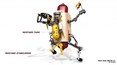 LEGO Ideas Hot Dog Mech 3