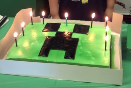 Minecraft Birthday Was a Success