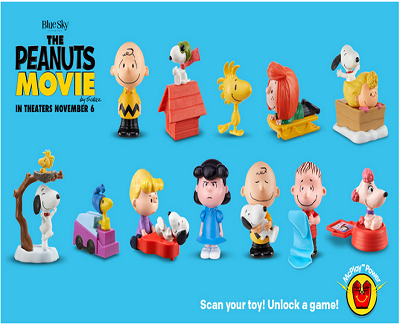 1130ed2d81 Happy Meal Toys  The Peanuts - The Toy Locker